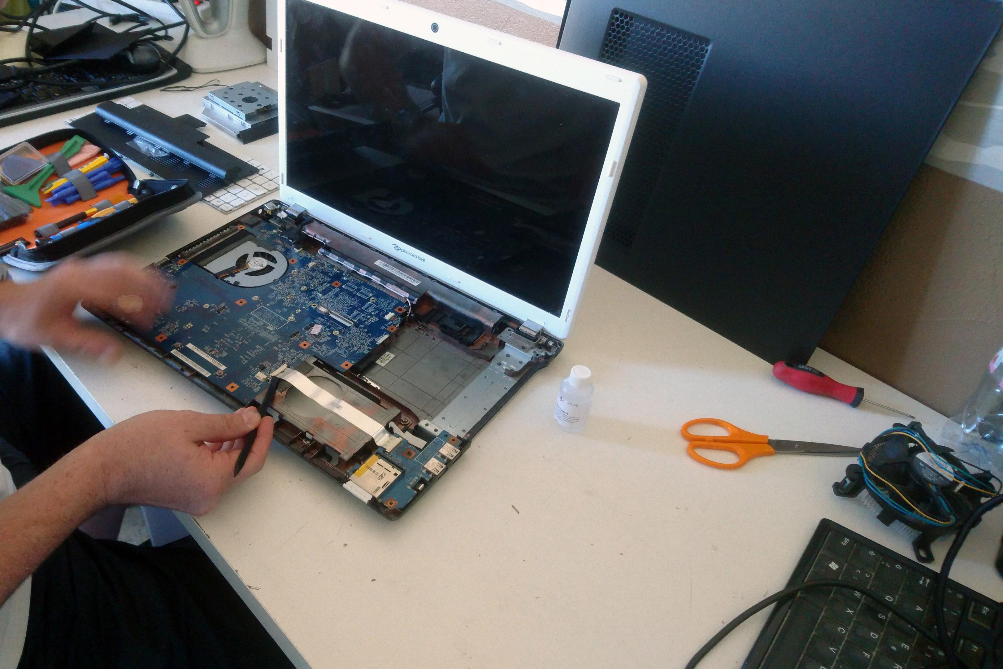 changement de composants ordinateur portable